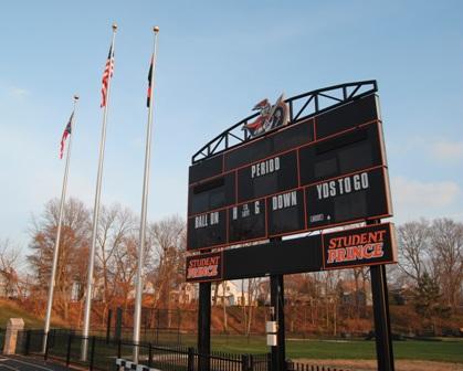 HU Flag Pole-Scoreboard