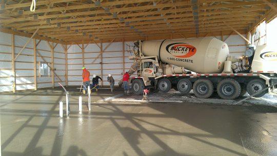 Wyandot Motors Floor Pour