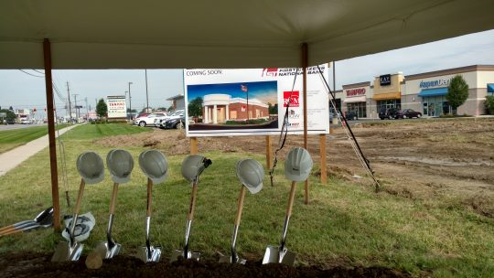 1. ground breaking with shovels