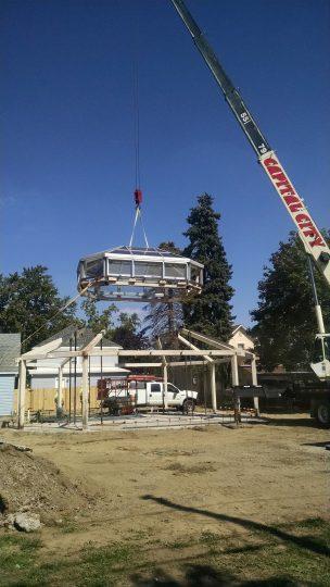 3. greenhouse being reinstalled