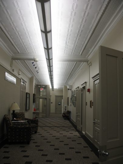 Old Main new hallway